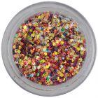 Hexagoane cu efect holografic - confetti de 1mm în pulbere roşie
