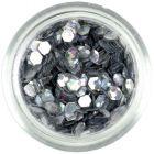 Confetti hologramă, 3mm - hexagoane argintii