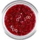 Pătrate transparente cu gaură - roșii