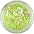 Decorațiune pentru unghii - mici pătrate cu gaură, verde deschis