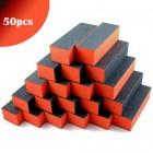 Pile unghii prismă, trei fețe, portocaliu-negru 100/100 - 50 buc