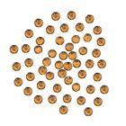Decorațiuni unghii, negru-auriu, 2 mm - strasuri rotunde în săculeț, 90 buc