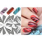 Abțibilduri pe bază de apă – Black & White Zebra Stripes
