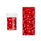 Folie decorativă pentru unghii - roșie cu reflexii holografice asimetrice