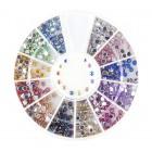 Decorațiuni nail art – strasuri rotunde 2mm – diverse culori cu efect AB
