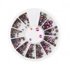 Decorațiuni nail art – strasuri mix – efect curcubeu
