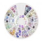 Decorațiuni nail art – strasuri 4 mm - diverse culori cu efect AB