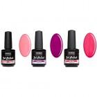 Lac UV permanent - 3 buc kit mic – roz-violet
