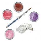 Set Shimmer II - Kit acrilic colorat de pudre acrilice pentru unghii