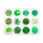 Kit nail art , 12 bucăți – verde