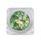 Decoratiuni pentru unghii - hexagon - verde
