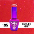MOLLY LAC UV/LED Hearts and Kisses - Dazzling Heart 195, 10ml