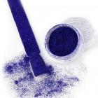 Pulbere decorativă strălucitoare - Efect Velvet nr. 15 - albastru închis, 3g