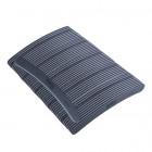 50buc - Pilă de unghii semilună, gri cu centru negru, lavabilă și dezinfectantă 100/180