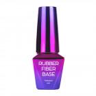 Gel de modelare UV / LED, Rubber Fiber Base - Silky Shimmer, 10ml
