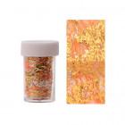 Folie decorativă pentru unghii - auriu cu plasă portocalie
