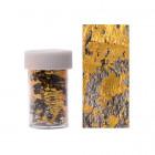 Folie decorativă pentru unghii - auriu cu plasă neagră