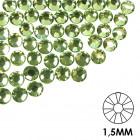 Pietre decorative pentru unghii - 1,5 mm - verde, 50 buc