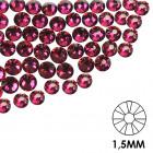 Pietre decorative pentru unghii - 1,5 mm - roz ciclam, 50 buc