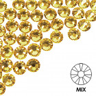 Pietre decorative pentru unghii - MIX - galben, 50buc