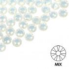 Pietre decorative pentru unghii - MIX - alb, 50buc