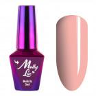 Gel UV / LED Molly Lac 5 în 1 - Peach, 10ml