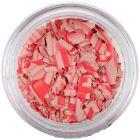 Fulgi de confetti cu o formă nedefinită - bej şi roşu, cu dungi