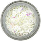 Confetti nail art - inimi albe