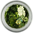 Flori artificiale nail art - verde oliv, hologramă