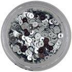 Paiete nail art în formă de disc, argintii