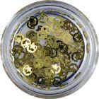 Decorațiuni metalice pentru unghii –  lună cu stea