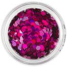 Confetti - hexagoane cu efect holografic, ciclam