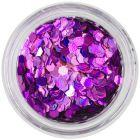 Confetti - hexagoane cu efect holografic, violet