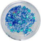 Stele din material - decoraţiuni albastru opalescent