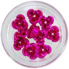 Ornamente pentru unghii, 10 buc – trandafiri ciclamen din ceramică