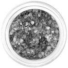 Cochilii zdrobite argintiu metalizat