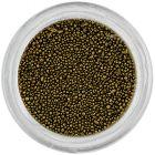 Decorații pentru unghii - perle 0,5mm, negru-auriu