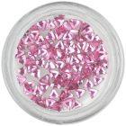 Strasuri unghii - triunghi, roz-deschis