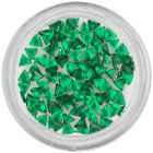 Strasuri unghii - triunghi, verde-smarald