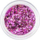 Fulgi de sclipici roz-mov - mic