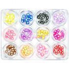 Kit mixt decorativ, 12 buc - Fimo Nail Art 5g