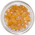 Flori mici pentru decorarea unghiilor - galben-portocaliu  perlat