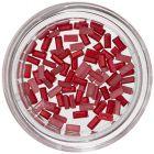 Dreptunghiuri decorative unghii - roșu perlat