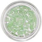 Dreptunghiuri decorative cu efect perlat - verde deschis
