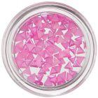 Triunghiuri perlate, pentru unghii - roz